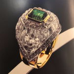 Anello cristallo e smeraldo